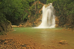 El Limon waterfall, Dominican Republic. Lower cascade of El Limon waterfall, Dominican Republic Royalty Free Stock Photos