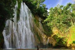 El Limon waterfall on Dominican Republic Stock Image