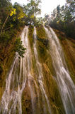 The El Limon waterfall. (waterfall millionaires), Samana in the Dominican Republic Royalty Free Stock Image