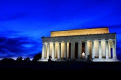 El Lincoln memorial en la noche Fotografía de archivo libre de regalías
