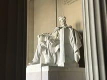 El Lincoln memorial que es Washington DC de i La escultura más famosa de la ciudad Fotografía de archivo libre de regalías