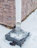 El lineatum del invierno fue cubierto con hielo Foto de archivo libre de regalías