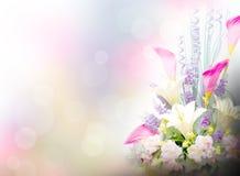El lirio florece el fondo Fotos de archivo libres de regalías