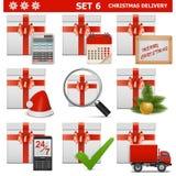 El livraison pour Noël del vector fijó 6 Fotografía de archivo libre de regalías