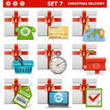El livraison pour Noël del vector fijó 7 Imagen de archivo libre de regalías
