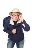 El llevar divertido del estudiante Imagen de archivo