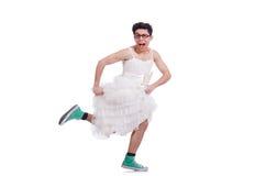 El llevar divertido del hombre del baile Fotos de archivo libres de regalías