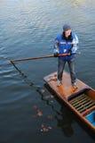 El llevar en batea en Cambridge Imagen de archivo