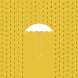 El llover en un paraguas Fotografía de archivo libre de regalías