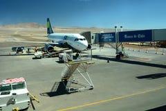 El Loa机场 卡拉马 智利 图库摄影