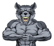 El lobo malo se divierte la mascota Foto de archivo