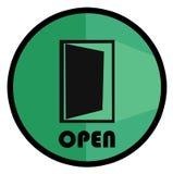El logotipo abierto del logotipo de la puerta Fotografía de archivo