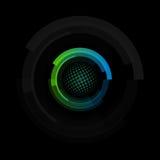 El logotipo colorido abstracto aislado de la forma redonda, circular enmarca los logotipos, iconos de las pelotas de golf en el v libre illustration