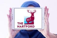 El logotipo de la compañía de seguros de Hartford Imágenes de archivo libres de regalías