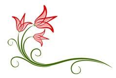 El logotipo de la flor ilustración del vector