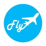 El logotipo de la línea aérea en fondo azul Fotos de archivo libres de regalías