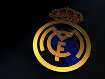 El logotipo del equipo de fútbol del Real Madrid hizo del oro ilustración del vector