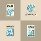 El logotipo del laberinto Fotografía de archivo libre de regalías