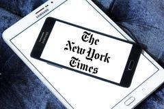 El logotipo del periódico de New York Times imagen de archivo