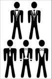 El logotipo en el tema - código de vestimenta para el hombre Fotos de archivo