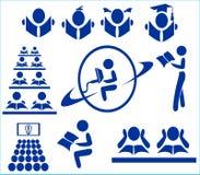El logotipo en tema - estudiar e Internet ilustración del vector