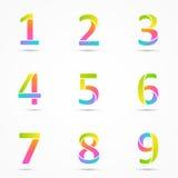 El logotipo numera 1, 2, 3, 4, 5, 6, 7, 8, plantilla 9