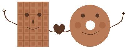 El logotipo para los vendedores de dulces y del café libre illustration