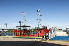 El Loro海盗小船在迈阿密 库存照片