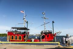 El Loro海盗小船在迈阿密 库存图片