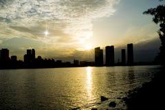 El lucero del alba y la Miami céntrica Foto de archivo
