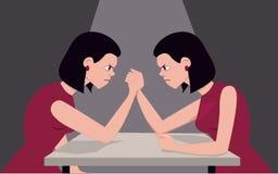 El luchar consigo mismo Foto de archivo libre de regalías