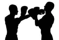 El luchar de los boxeadores Imagen de archivo