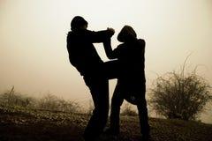 El luchar de los hombres Foto de archivo