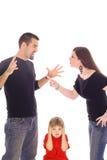El luchar de los padres Imagen de archivo libre de regalías