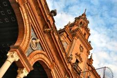 El lugar de España en Sevilla Fotos de archivo