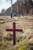 Lugar del accidente imagen de archivo libre de regalías