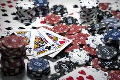 El lugar de un jugador de póker Imágenes de archivo libres de regalías