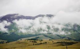 El lugar en la montaña Altai Fotos de archivo