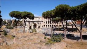 El lugar famoso de Colosseum almacen de metraje de vídeo