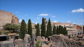El lugar famoso de Colosseum almacen de video