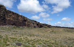 El lugar habitado por las tribus indias antiguas en el parque nacional Pali Aike Imagen de archivo