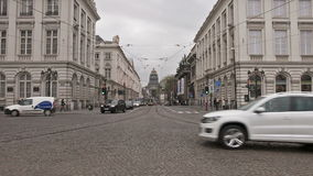 El lugar Royale en Bruselas Lapso de tiempo almacen de video