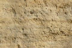 El lugar terciario del mar con la arena y la piedra arenisca Imagen de archivo