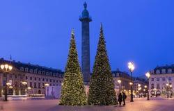 El lugar Vendome en París fotos de archivo