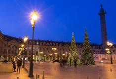 El lugar Vendome en París imagen de archivo