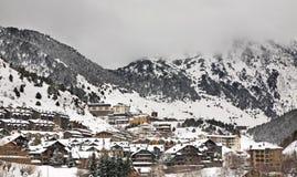 EL más agrio Canillo Principado de Andorra foto de archivo