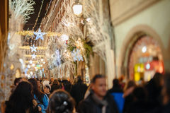 El más viejo mercado de la Navidad de Europa - Estrasburgo, Alsacia, Fran Fotografía de archivo libre de regalías