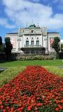El más viejo teatro noruego, situado en Bergen foto de archivo libre de regalías