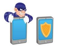 El móvil protege ilustración del vector