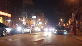 El múltiplo pre-cutted timelapse de Philadelphia de la noche acorta Timelapse almacen de video